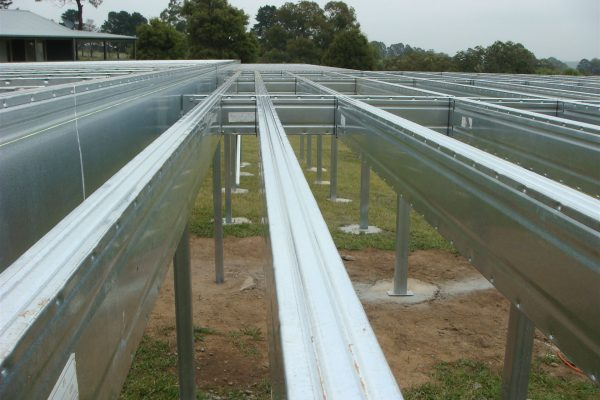 Boxspan steel framing provides a straight and true floor frame