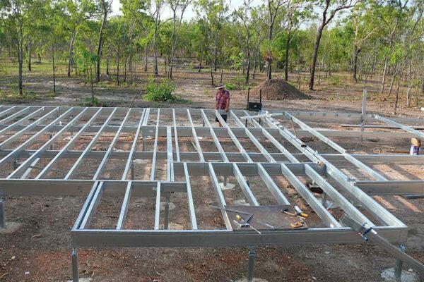Boxspan floor frame in a rural bushfire prone region