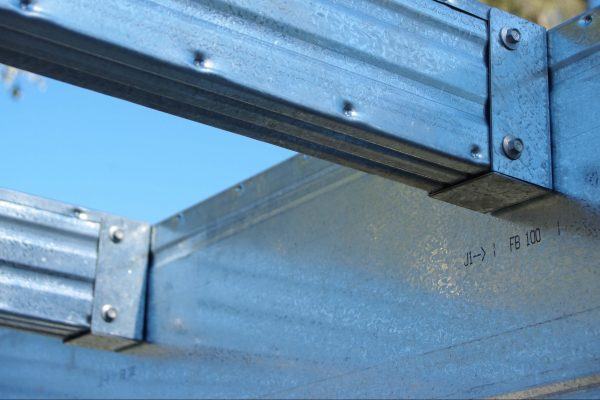 Smart Bearers marked for brackets and joist locations