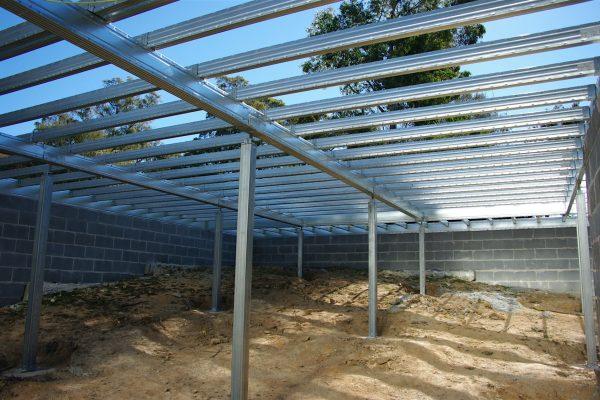 Ezipier and Boxspan floor frame within blockwork enclosed sub-floor