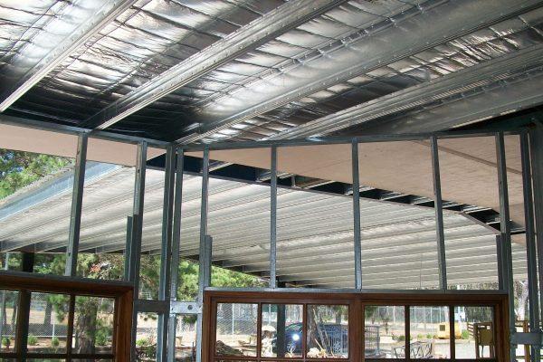 Boxspan skillion roof and carport canopy frames