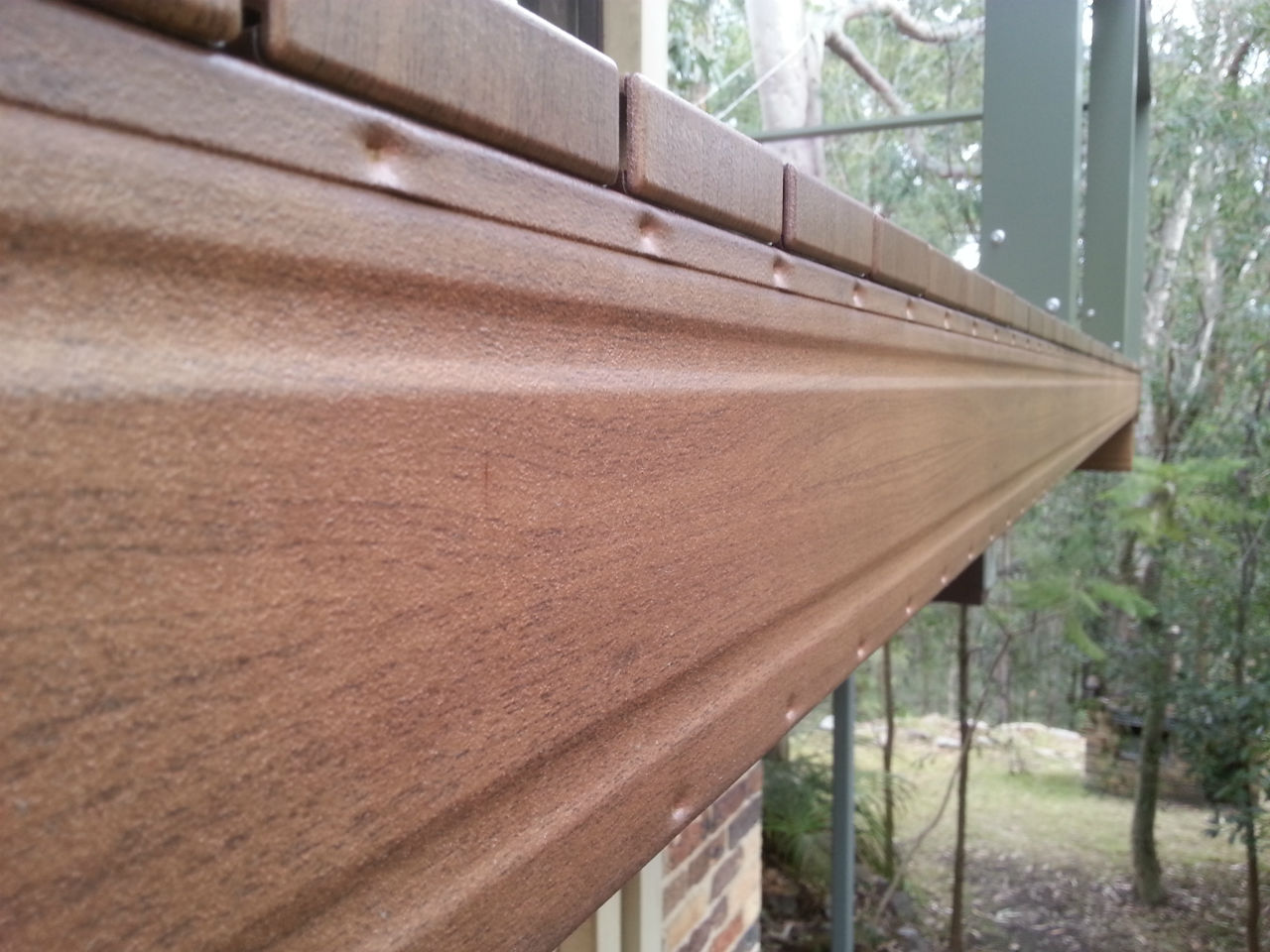 Timber finish to Boxspan bearer in a high bush fire danger area