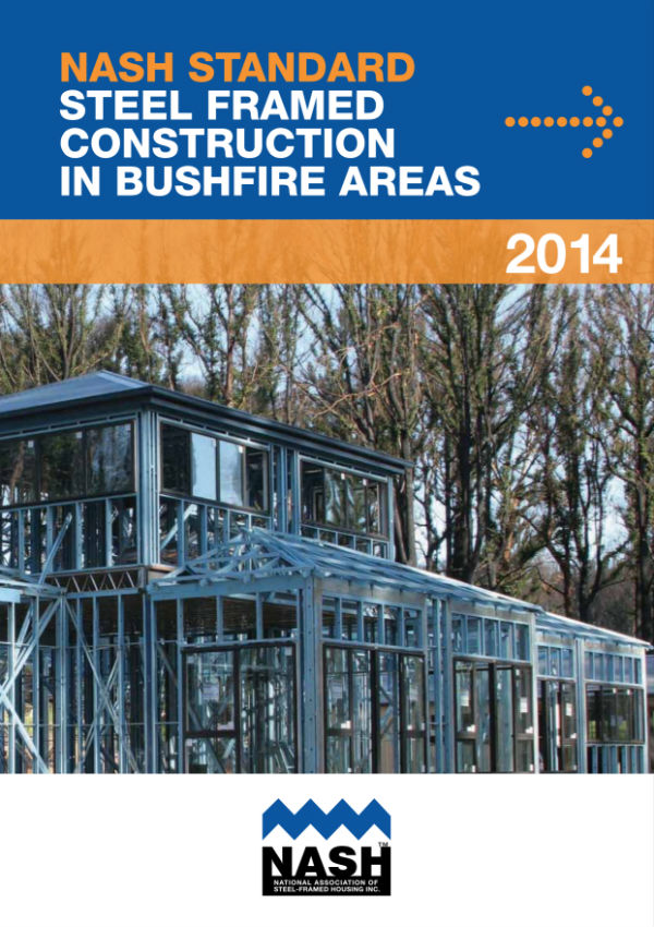 Cover of the NASH standard for steel framed construction in bushfire prone areas