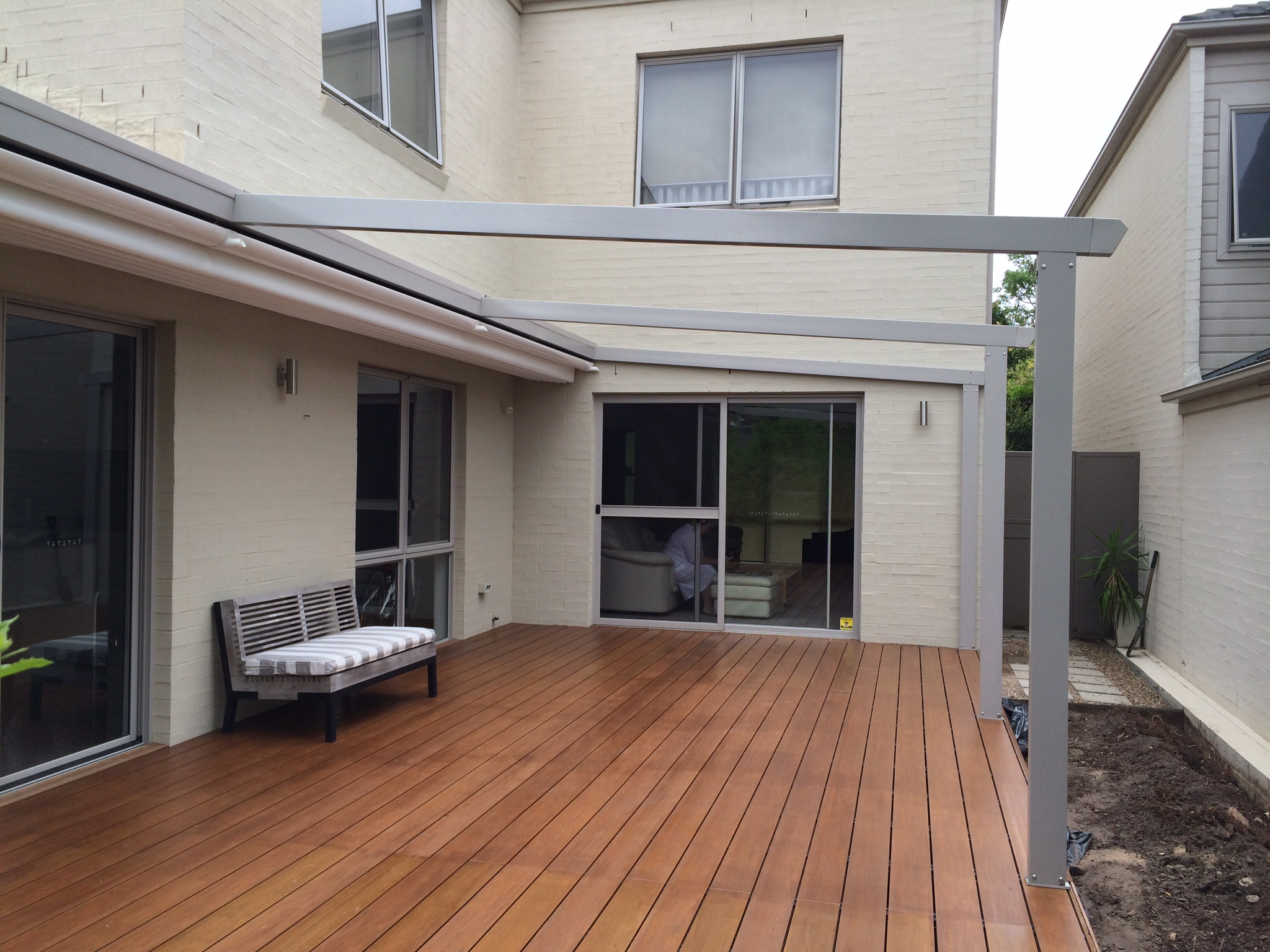 Boxspan deck frame over existing paving