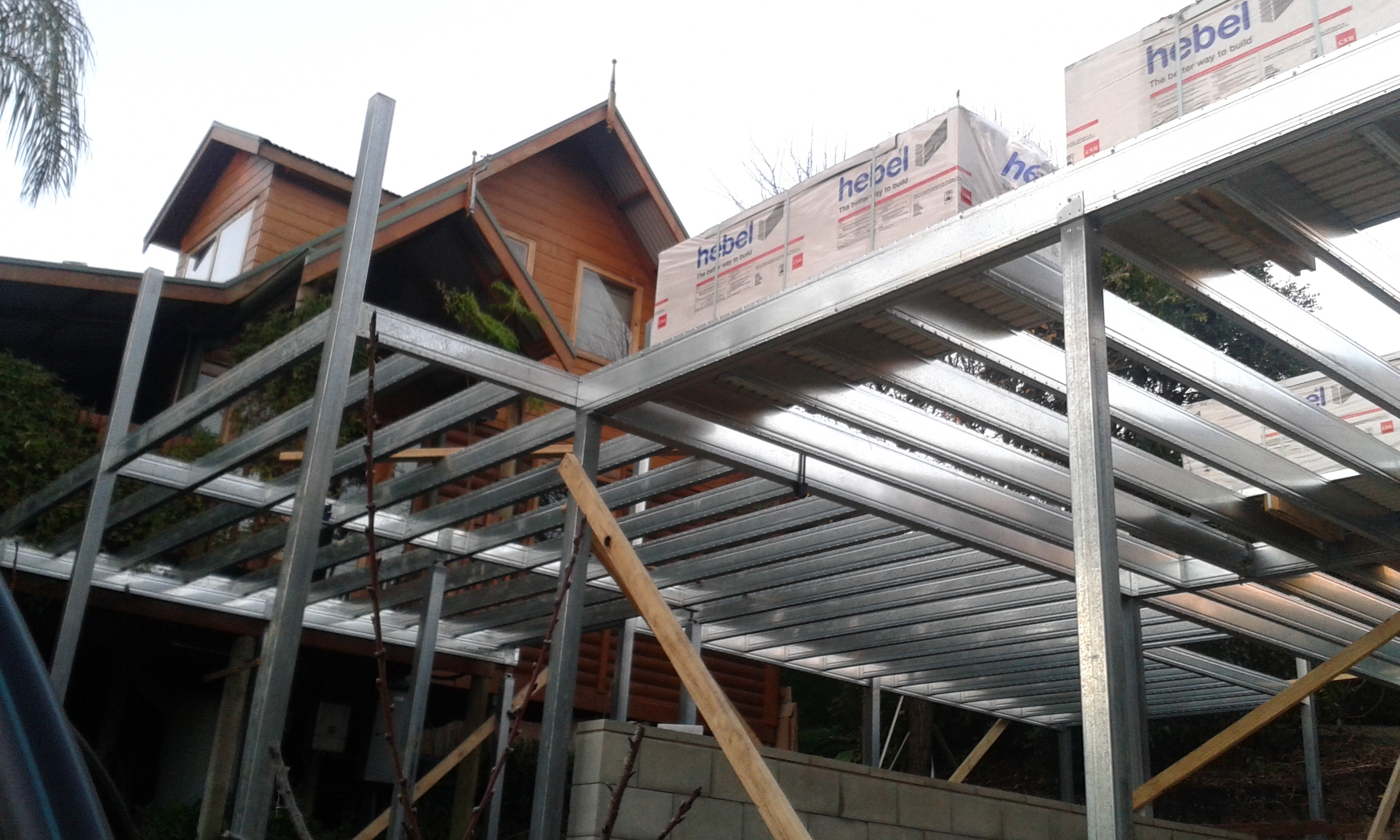 Boxspan deck and upper floor frame