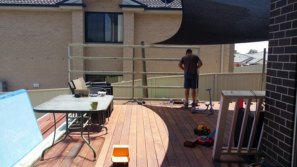 Elevated deck on Boxspan frame