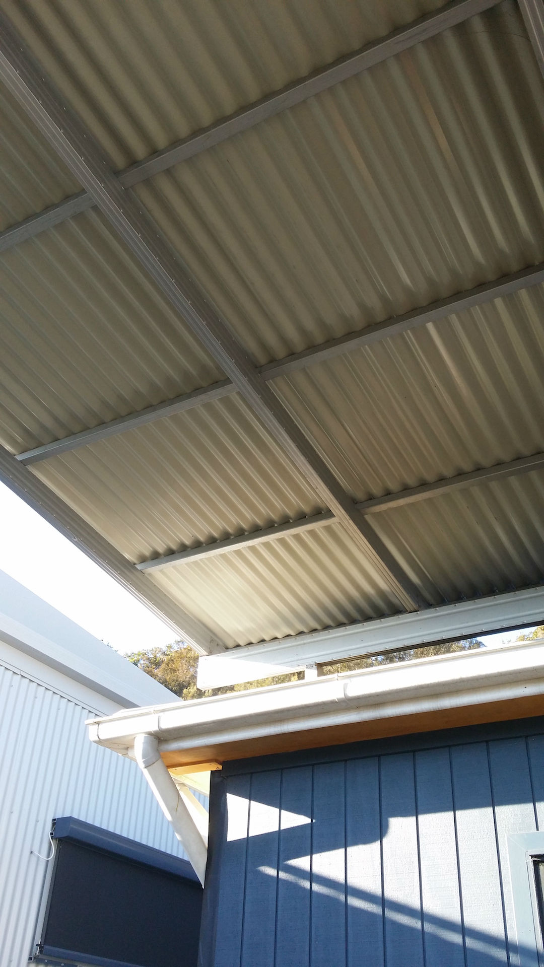 Boxspan pergola rafters