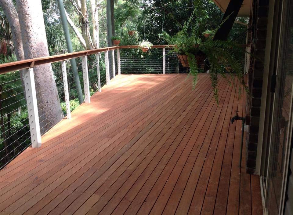 Decking boards installed at an angle not square over Boxspan deck frame