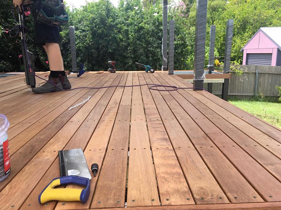 Decking installed over Boxspan deck frame