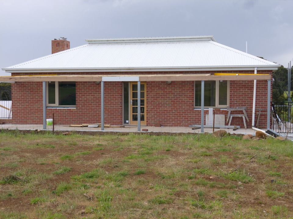 House nearing completion on Boxspan floor frame