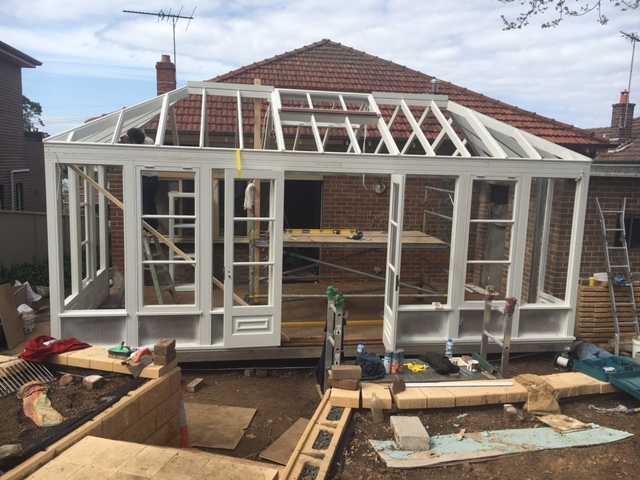 Conservatory on Boxspan steel floor framing