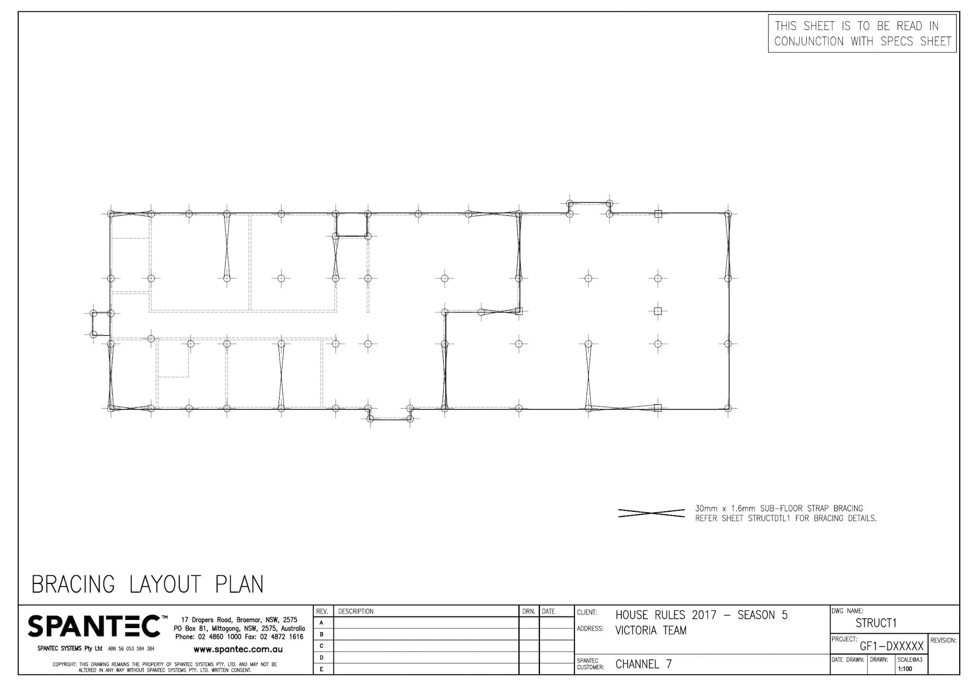 Bracing Layout Plan